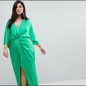 Green ASOS Kimono Twist Dress